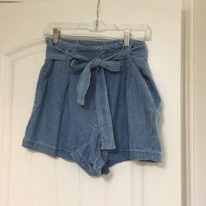 A&F Paper Bag Shorts